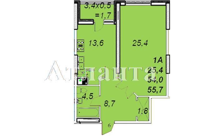 Продается 1-комнатная квартира в новострое на ул. Французский Бул. — 72 020 у.е.