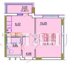 Продается 1-комнатная квартира в новострое на ул. 1 Мая — 22 280 у.е. (фото №2)