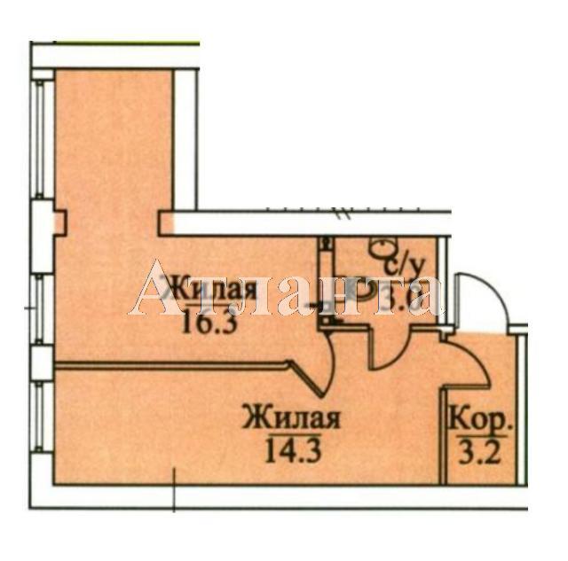 Продается 2-комнатная квартира в новострое на ул. Болгарская — 37 000 у.е. (фото №3)