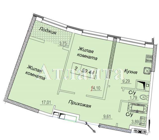Продается 2-комнатная квартира в новострое на ул. Каманина — 49 570 у.е.