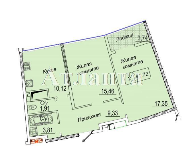 Продается 2-комнатная квартира в новострое на ул. Каманина — 51 160 у.е.