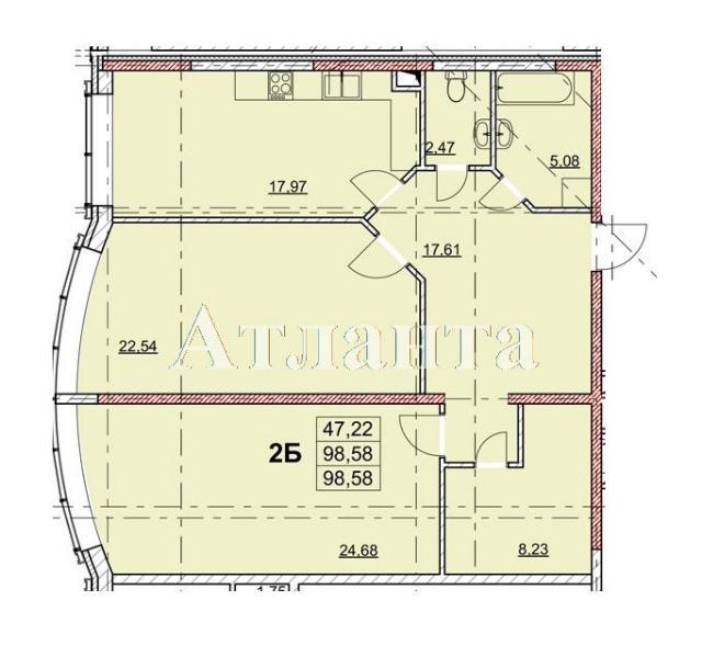Продается 2-комнатная квартира в новострое на ул. Гагаринское Плато — 76 930 у.е. (фото №4)