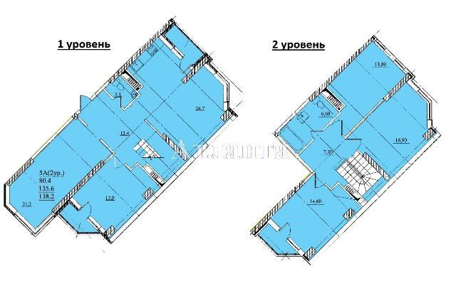 Продается Многоуровневая квартира в новострое на ул. Проценко — 77 330 у.е.