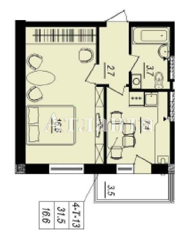 Продается 1-комнатная квартира в новострое на ул. Люстдорфская Дорога — 29 950 у.е.