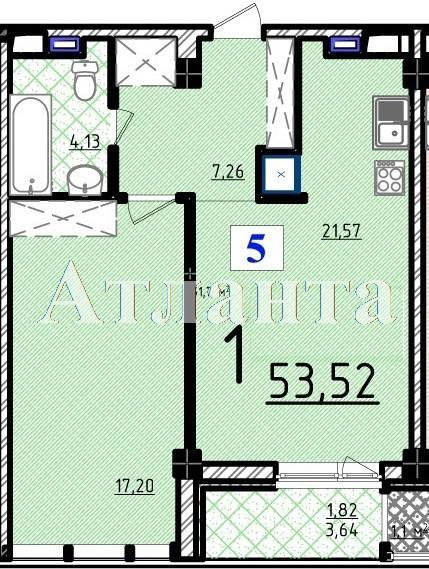 Продается 1-комнатная квартира в новострое на ул. Французский Бул. — 109 200 у.е.