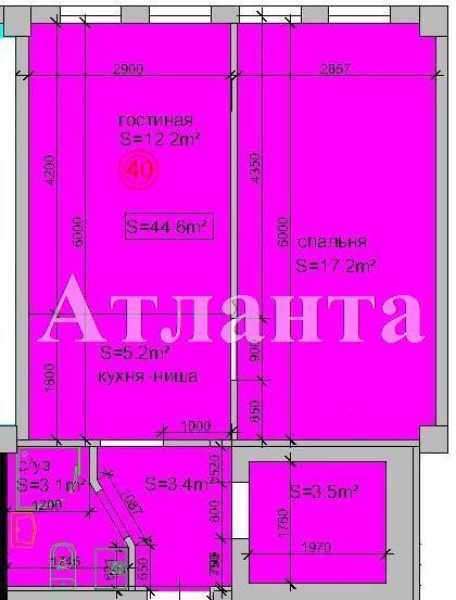 Продается 2-комнатная квартира в новострое на ул. Атамана Головатого — 44 000 у.е.