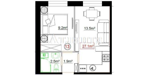Продается 2-комнатная квартира на ул. Центральная — 24 700 у.е.