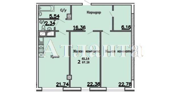 Продается 2-комнатная квартира в новострое на ул. Большая Арнаутская — 113 210 у.е. (фото №3)