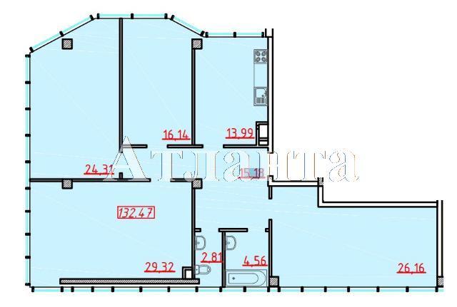 Продается 4-комнатная квартира в новострое на ул. Большая Арнаутская — 167 340 у.е.