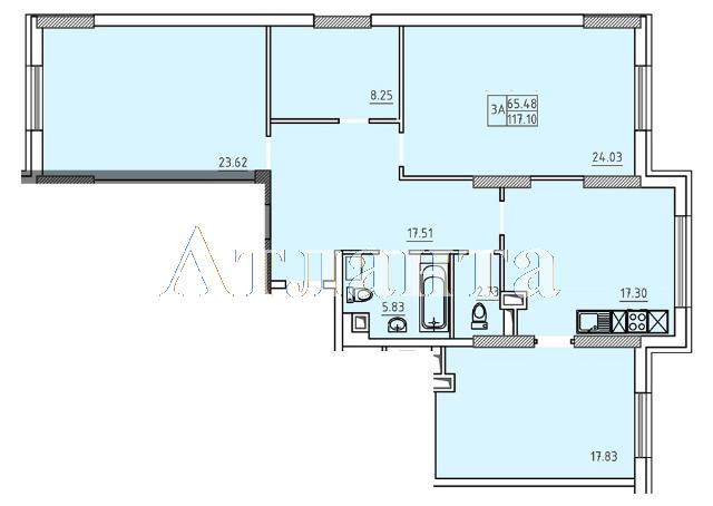 Продается 3-комнатная квартира в новострое на ул. Французский Бул. — 123 000 у.е. (фото №5)