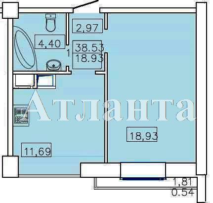 Продается 1-комнатная квартира в новострое на ул. Французский Бул. — 65 000 у.е. (фото №5)