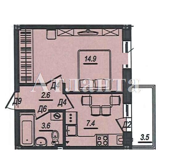 Продается 1-комнатная квартира в новострое на ул. Люстдорфская Дорога — 26 000 у.е.