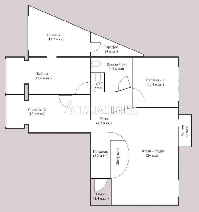 Продается 4-комнатная квартира на ул. Люстдорфская Дорога — 104 000 у.е. (фото №12)