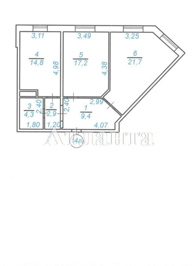 Продается 2-комнатная квартира в новострое на ул. Среднефонтанская — 46 860 у.е.