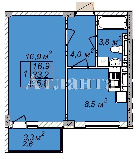 Продается 1-комнатная квартира в новострое на ул. Рихтера Святослава — 23 940 у.е.