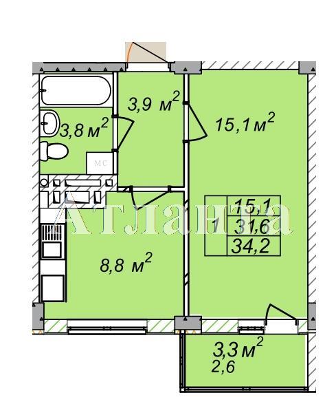 Продается 1-комнатная квартира в новострое на ул. Рихтера Святослава — 23 280 у.е.