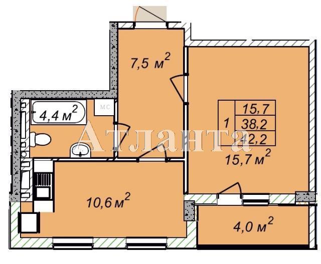 Продается 1-комнатная квартира в новострое на ул. Рихтера Святослава — 24 420 у.е.