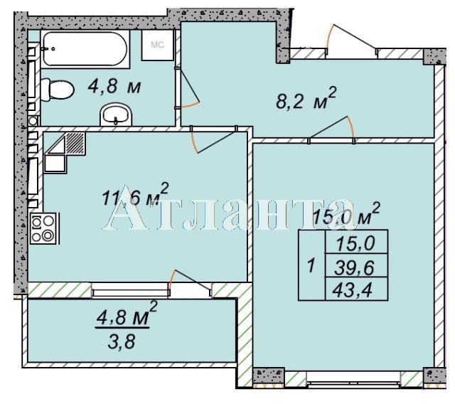 Продается 1-комнатная квартира в новострое на ул. Рихтера Святослава — 26 040 у.е.