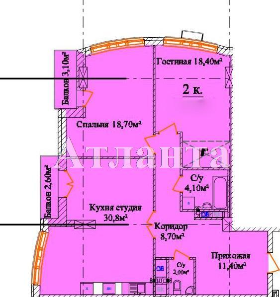 Продается 2-комнатная квартира в новострое на ул. Белинского — 165 070 у.е. (фото №5)