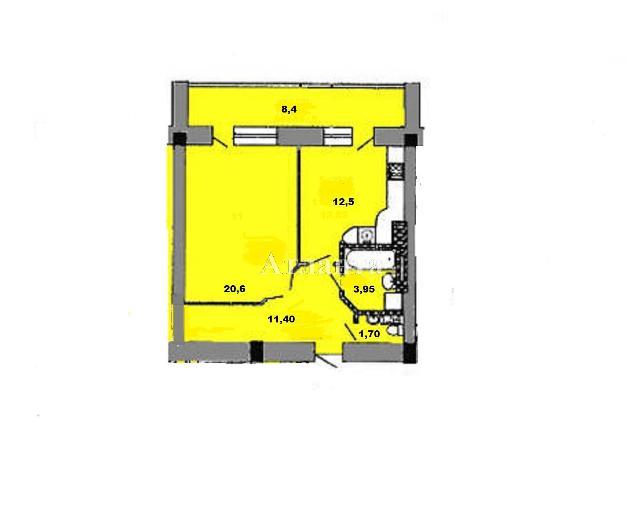 Продается 1-комнатная квартира в новострое на ул. Костанди — 54 000 у.е.