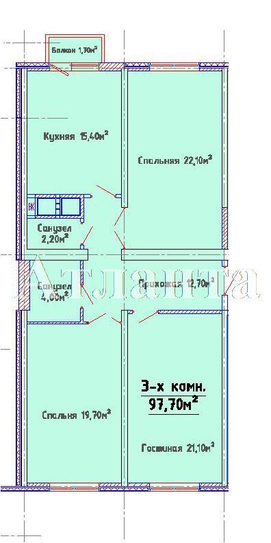 Продается 3-комнатная квартира в новострое на ул. Люстдорфская Дорога — 79 290 у.е.