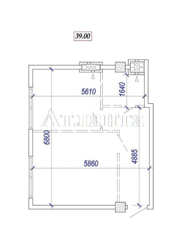Продается 1-комнатная квартира в новострое на ул. Ванный Пер. — 50 700 у.е. (фото №3)