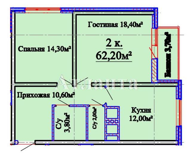 Продается 2-комнатная квартира в новострое на ул. Люстдорфская Дорога — 66 030 у.е.