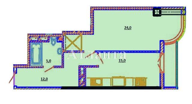 Продается 1-комнатная квартира в новострое на ул. Березовая — 54 600 у.е.