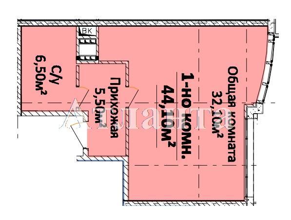 Продается 1-комнатная квартира в новострое на ул. Гагарина Пр. — 39 010 у.е. (фото №3)