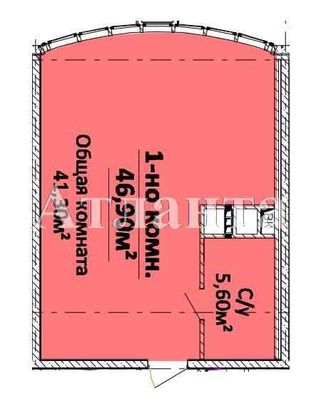 Продается 1-комнатная квартира в новострое на ул. Гагарина Пр. — 41 270 у.е.