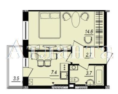 Продается 1-комнатная квартира в новострое на ул. Люстдорфская Дорога — 24 600 у.е.