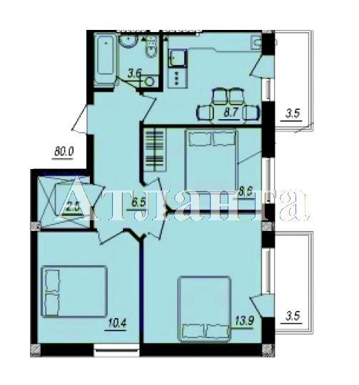 Продается 3-комнатная квартира в новострое на ул. Люстдорфская Дорога — 46 750 у.е.