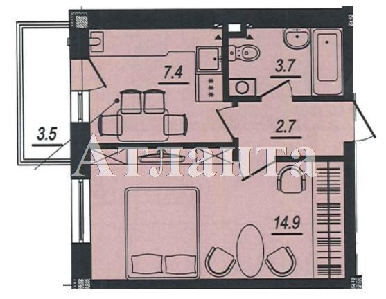 Продается 1-комнатная квартира в новострое на ул. Люстдорфская Дорога — 26 500 у.е.