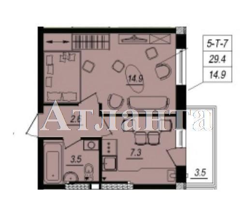 Продается 1-комнатная квартира в новострое на ул. Люстдорфская Дорога — 24 100 у.е. (фото №4)