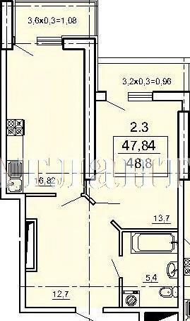 Продается 1-комнатная квартира в новострое на ул. Педагогическая — 46 800 у.е.