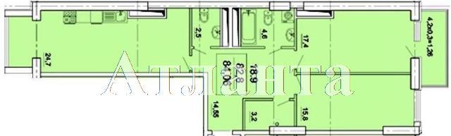 Продается 2-комнатная квартира в новострое на ул. Педагогическая — 84 100 у.е.