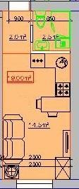 Продается 1-комнатная квартира на ул. Центральная — 17 940 у.е.