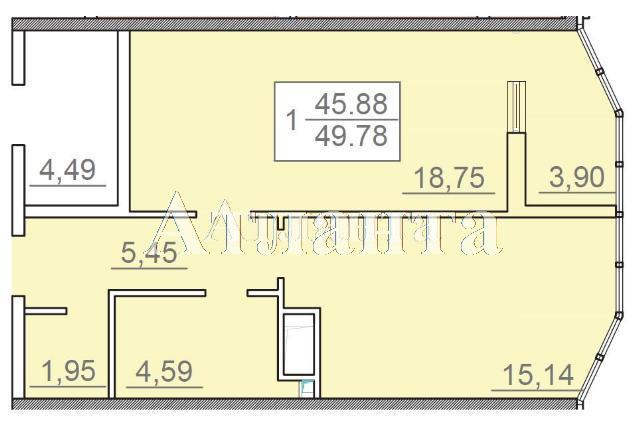 Продается 1-комнатная квартира в новострое на ул. Итальянский Бул. — 60 000 у.е. (фото №4)