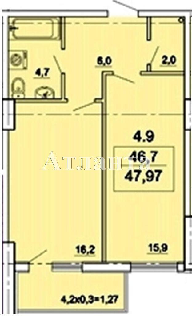 Продается 1-комнатная квартира в новострое на ул. Педагогическая — 38 830 у.е.