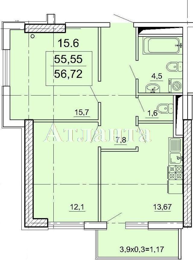 Продается 2-комнатная квартира в новострое на ул. Педагогическая — 50 580 у.е. (фото №6)