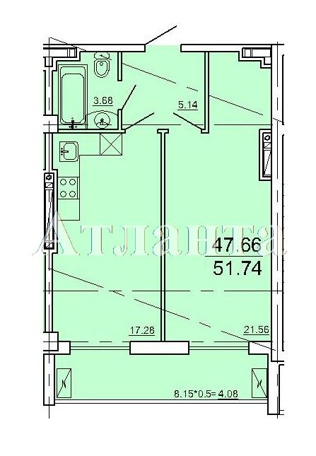 Продается 1-комнатная квартира в новострое на ул. Ванный Пер. — 77 610 у.е.