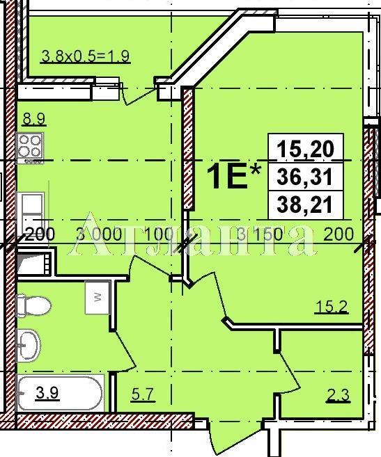 Продается 1-комнатная квартира в новострое на ул. Балковская — 26 360 у.е.