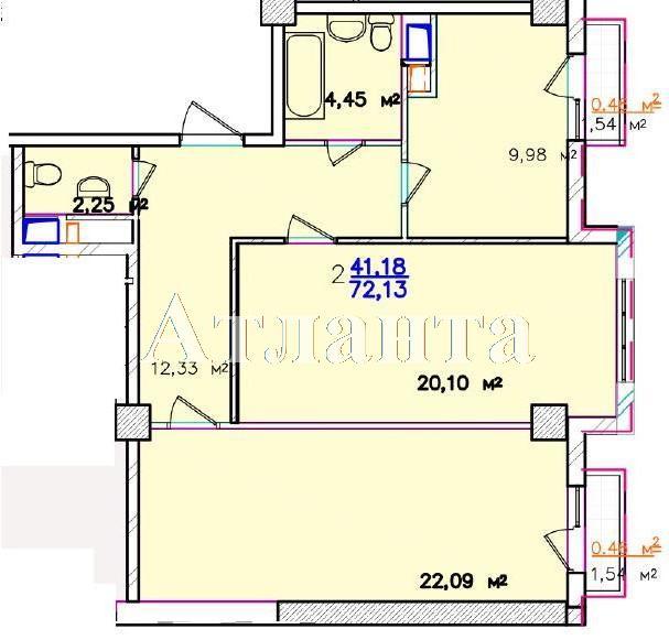 Продается 2-комнатная квартира в новострое на ул. Жм Дружный — 65 300 у.е. (фото №9)