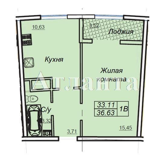 Продается 1-комнатная квартира в новострое на ул. Генуэзская — 36 650 у.е. (фото №7)