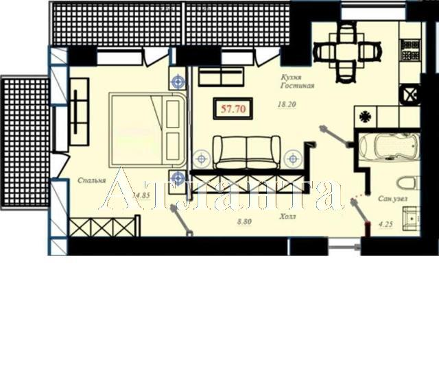 Продается 2-комнатная квартира в новострое на ул. Малиновского Марш. — 75 000 у.е. (фото №10)