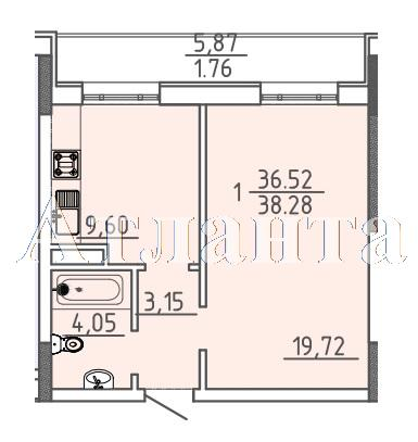 Продается 1-комнатная квартира в новострое на ул. Фонтанская Дор. — 45 290 у.е. (фото №4)