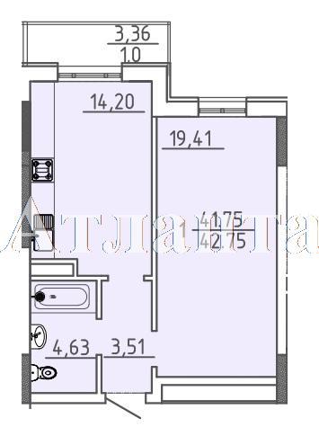 Продается 1-комнатная квартира в новострое на ул. Фонтанская Дор. — 50 750 у.е. (фото №4)