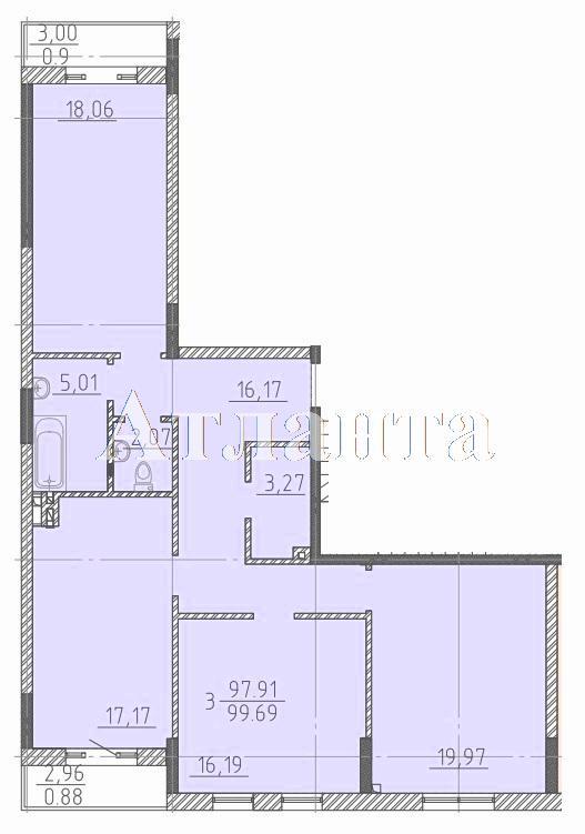 Продается 3-комнатная квартира в новострое на ул. Фонтанская Дор. — 106 140 у.е.