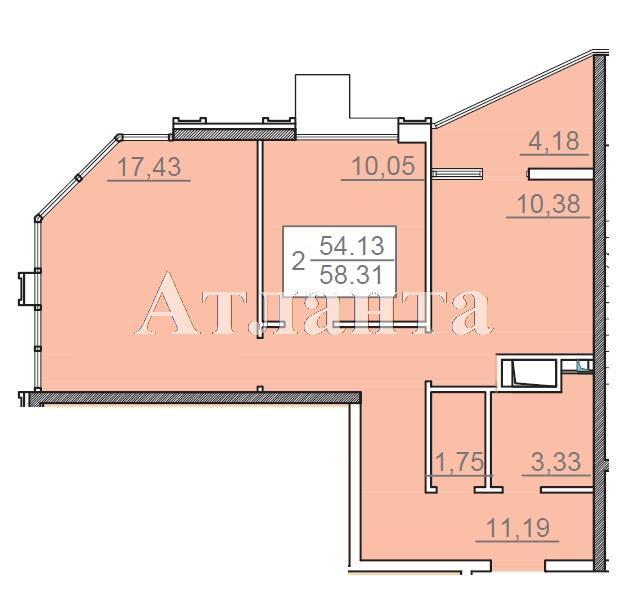Продается 2-комнатная квартира в новострое на ул. Итальянский Бул. — 73 000 у.е.