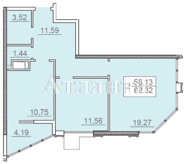 Продается 2-комнатная квартира в новострое на ул. Итальянский Бул. — 87 300 у.е.